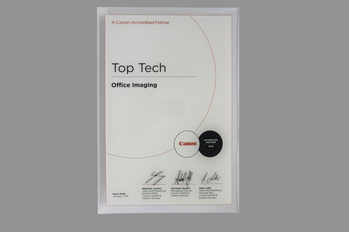 TopTech - Canon Accredited partner