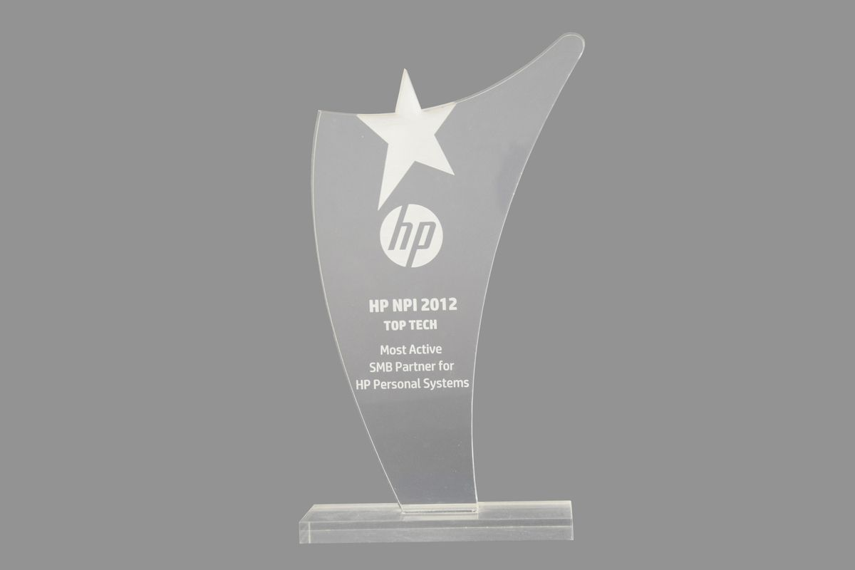 TopTech - Most Active SMB Partner for HP Personal Systems