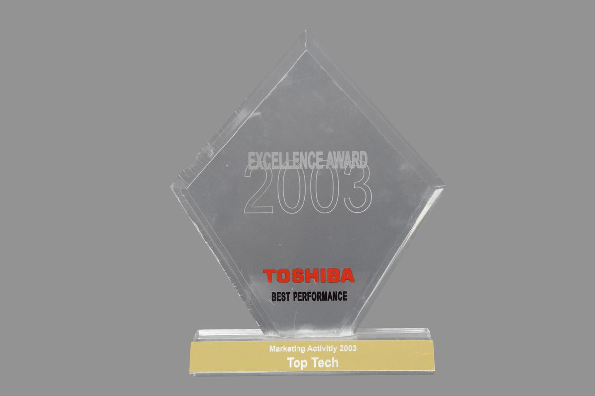 TopTech - Toshiba Excelence Award 2003 Best Performance